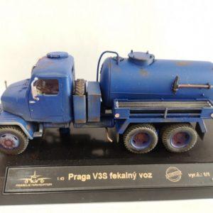 Praga V3S fekálny voz modrá f. opotrebovaná verzia